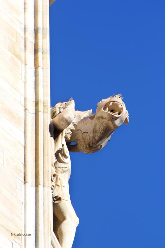 Protecting the Duomo, Milan.