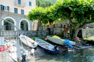Idled Boats near Bellagio.